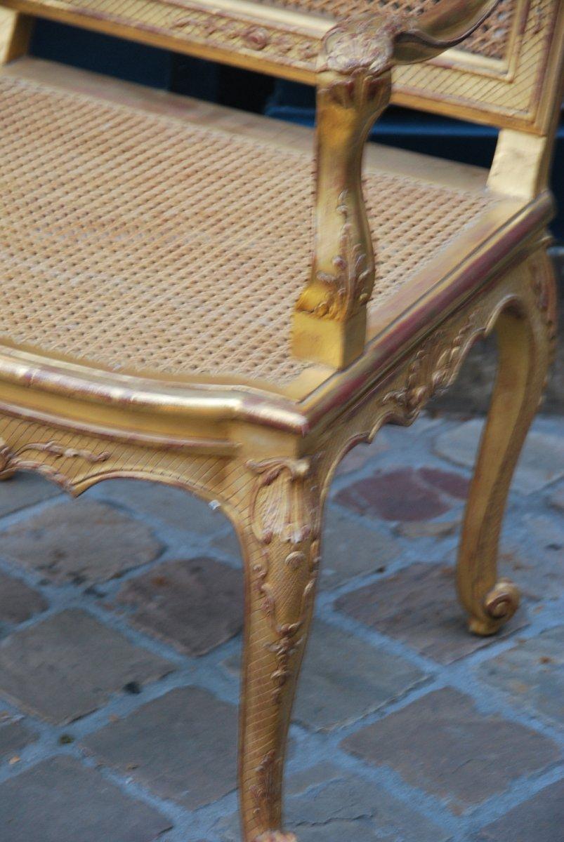 Important Et Large Fauteuil D Apparat En Bois Doré D époque Regence Début XVIII-photo-5