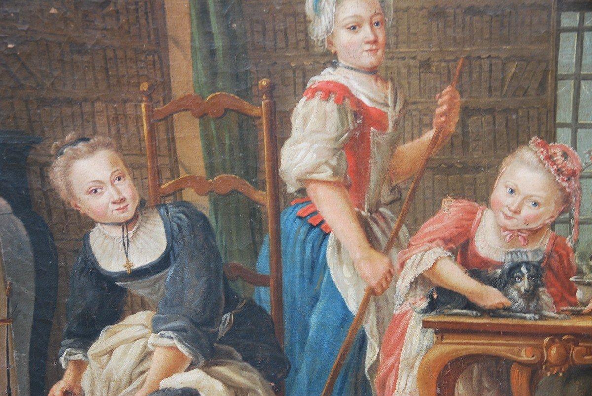 Ecole Française Du XVIII/  Portrait De Famille : La Marquise De  Goddes De Varennes-photo-6