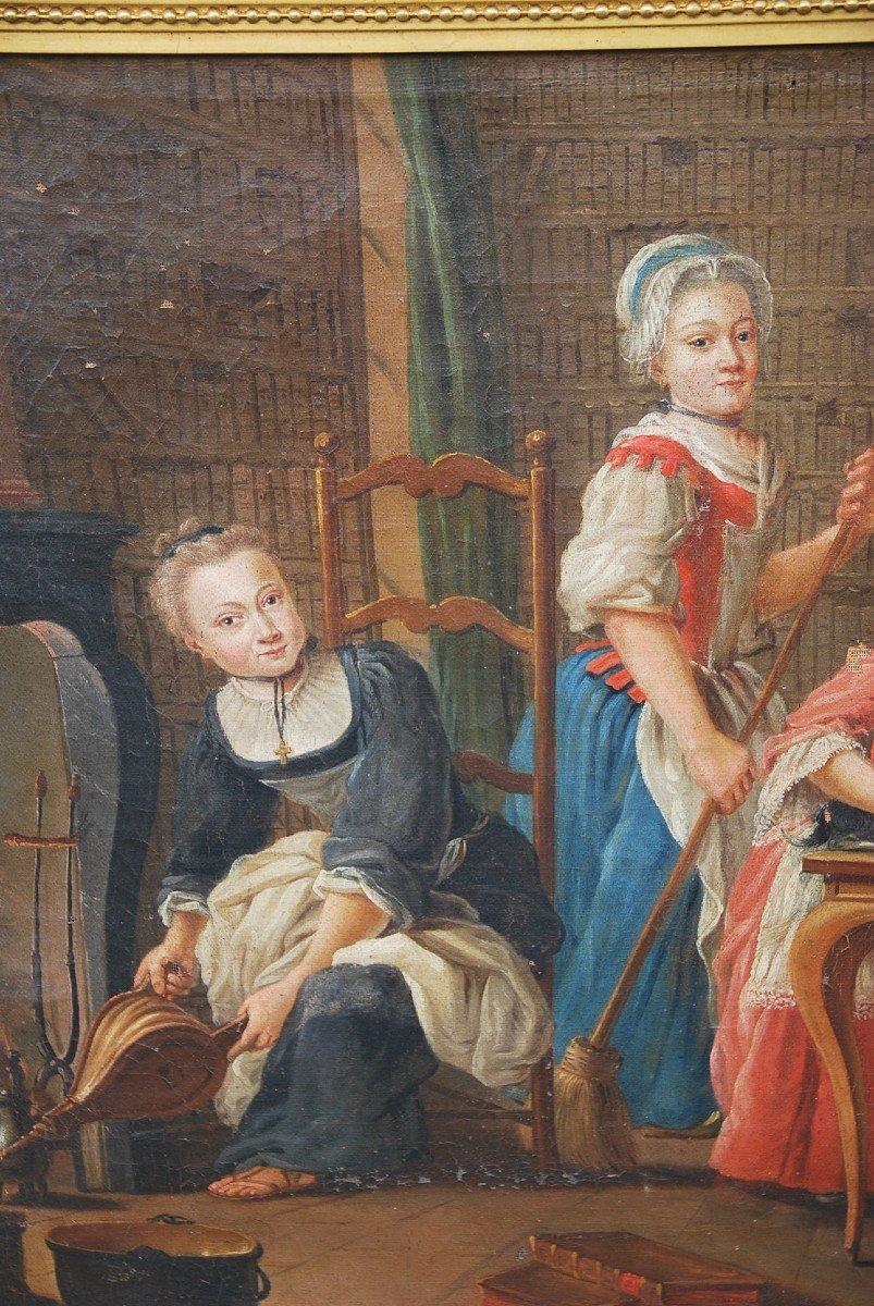 Ecole Française Du XVIII/  Portrait De Famille : La Marquise De  Goddes De Varennes-photo-7