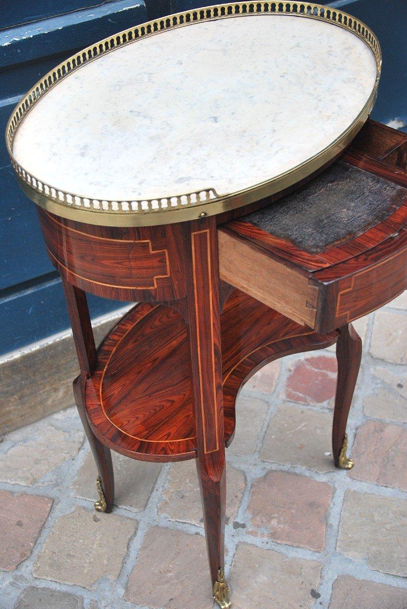 Table Chiffonière En Bois De Violette D époque Louis XVI-photo-1