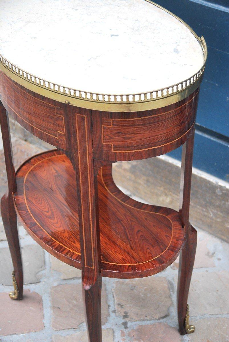 Table Chiffonière En Bois De Violette D époque Louis XVI-photo-3