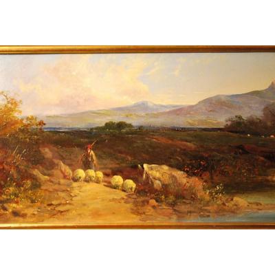 Paysage Dans La Lande Par Georges Horlor
