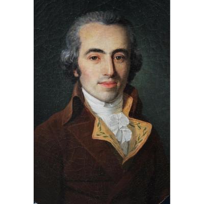 Elégant Portrait D Homme D époque Louis XVI