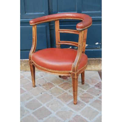Office Chair D Louis XVI Era. Stamped De Pillot