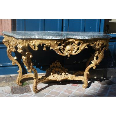 Large Console Four Feet D Louis XV. In The Taste Of Toro