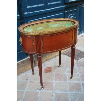 Jardinière En Acajou De Style Louis XVI Estampillée De Mailfert