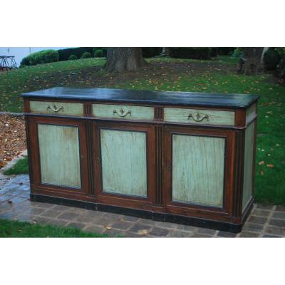 Wood Sideboard Painted And Patinated D Directoire Period, End XVIII