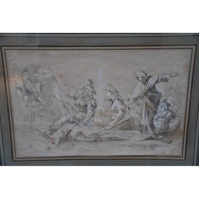 Drawing XVII, Meeting Of Characters From After Salvator Rosa