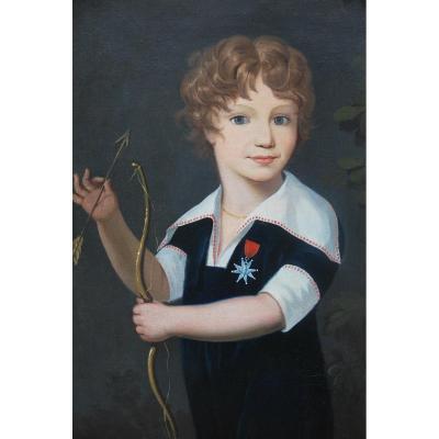 Portrait D Un Jeune Garçon à L Arc  .xix
