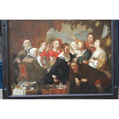 Important Tableau   De L école D Utrecht , école Caravagesque , Ter Brugghen  XVII