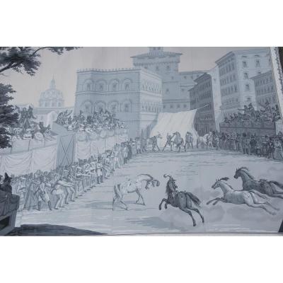 Chez Zuber XIX Wallpaper: Siena: The Palio Race