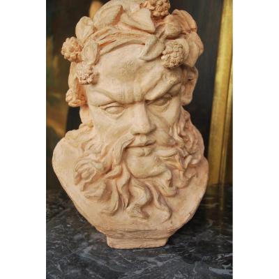 Original Terracotta Representative Bacchus, Signature
