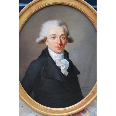 Portrait Of Man Louis XVI Period. Signed By: The Barber