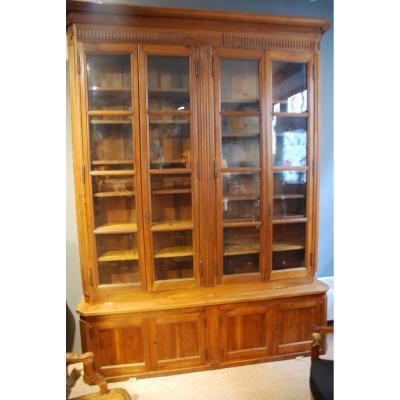 Belle Bibliothèque En Noyer D époque Louis XVI Fin XVIII