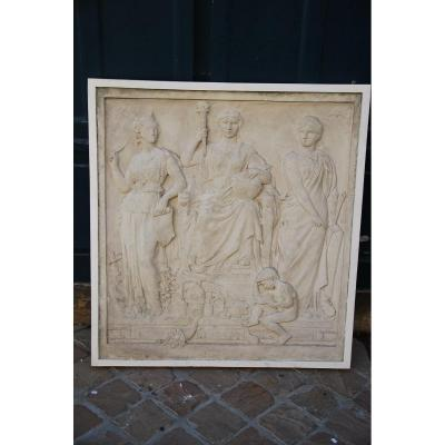 Important Bas Relief In Plaster XIX
