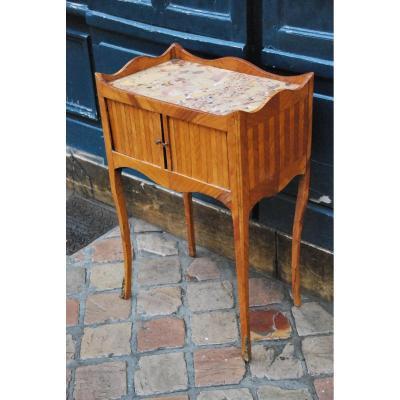 Louis XV Style Veneer Bedside Table