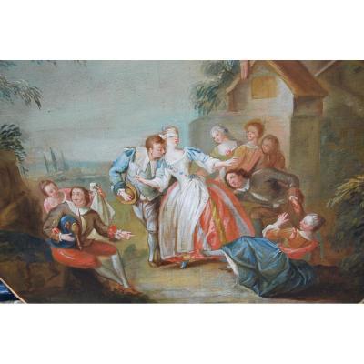 Le Colin Maillard  écle Française XVIII Suiveur De Pater