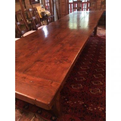 """large And Important Monastery Table In Walnut"""