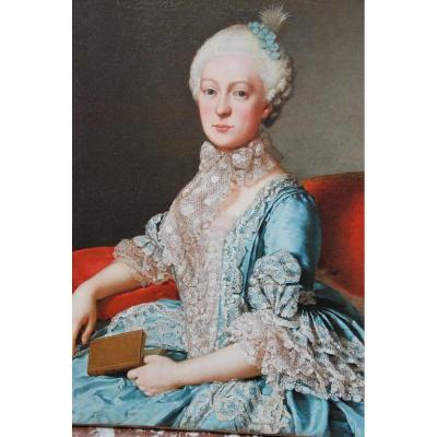 Rare Portrait De Marie Caroline D Autriche Soeur De Marie Antoinette