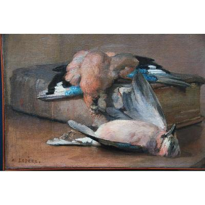 Still Life With Feathered Game Signed By Auguste Lepère