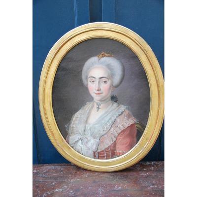Portrait D époque Louis XVI , Jeune Provencale