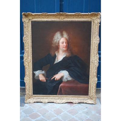 Important Portrait De John Law Par Rigaud  XVIII