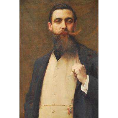 Important Portrait Of Man Signed By Georges Lavergne