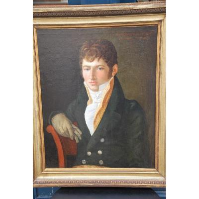 Portrait Of A Man Of Directoire Period, Monsieur De Bussy