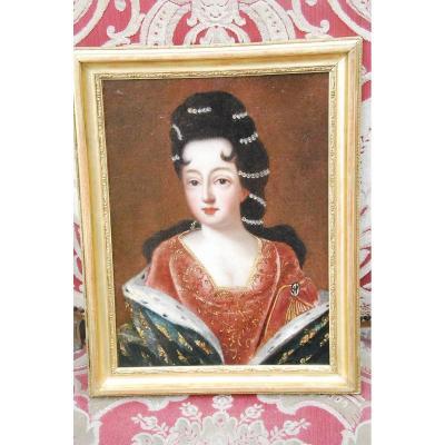 Portrait D Après Gobert De La Princesse De Conti , Louise De Bourbon