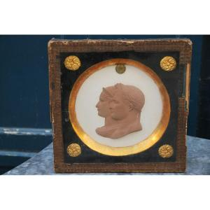 Medallion With Profiles Of Napoleon And Marie Louise Empire Period