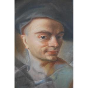Pastel Portrait D Man D After Quentin De La Tour XVIIIi