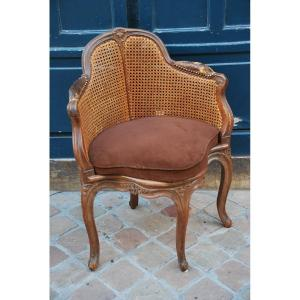 Canne Office Armchair D Louis XV Stamped