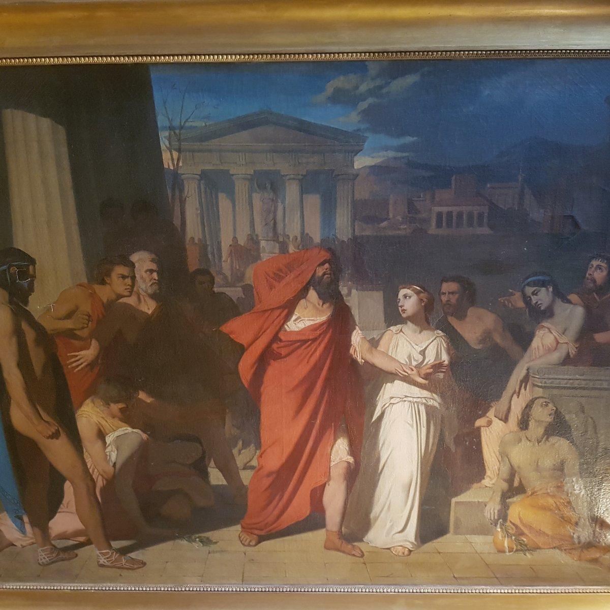 """""""Oedipe et Antigone s'exilant de Thèbes"""""""