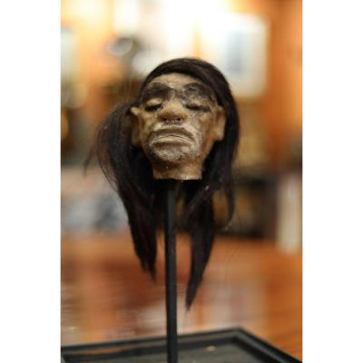 Jivaro Head Made With A Monkey Head