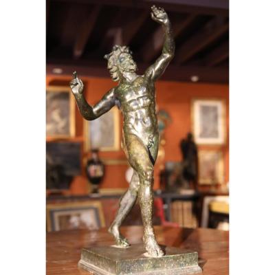 Faune Dansant En Bronze XIX