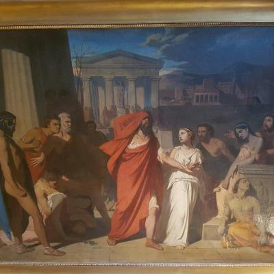 """oedipus And Antigone Exiling From Thebes"""