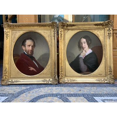 Pair Of Portraits