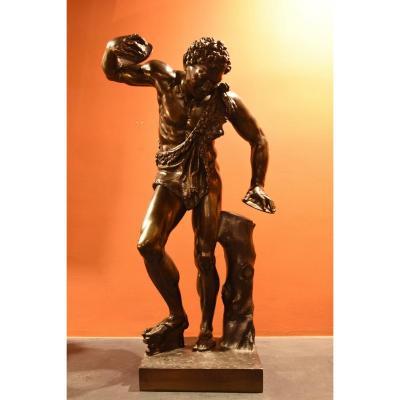 Faune dansant aux cymbales en Bronze