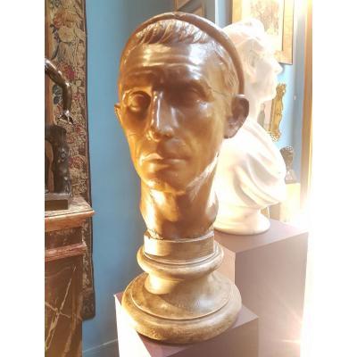 Buste en cire et plâtre d'Antochios III