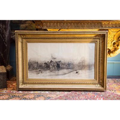 Dessin d'Eugene Fromentin (1820 1876)