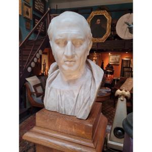 Buste En Marbre De Ciceron