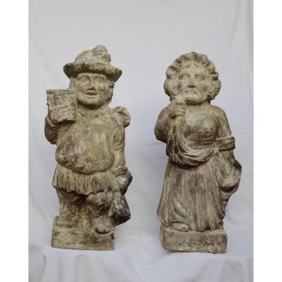 sculptures En Terre Cuite XIXème