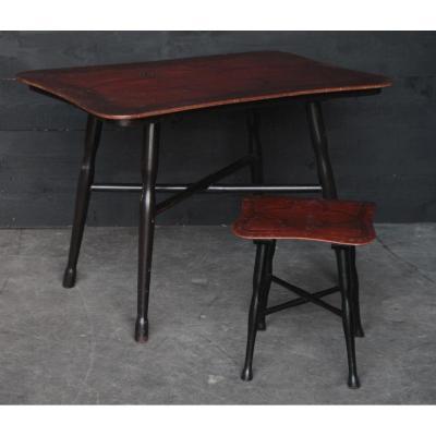 Table Thonet Et Son Tabouret