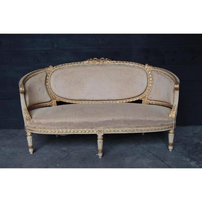 Canapé Corbeille De Style Louis XVI d'époque Napoleon III