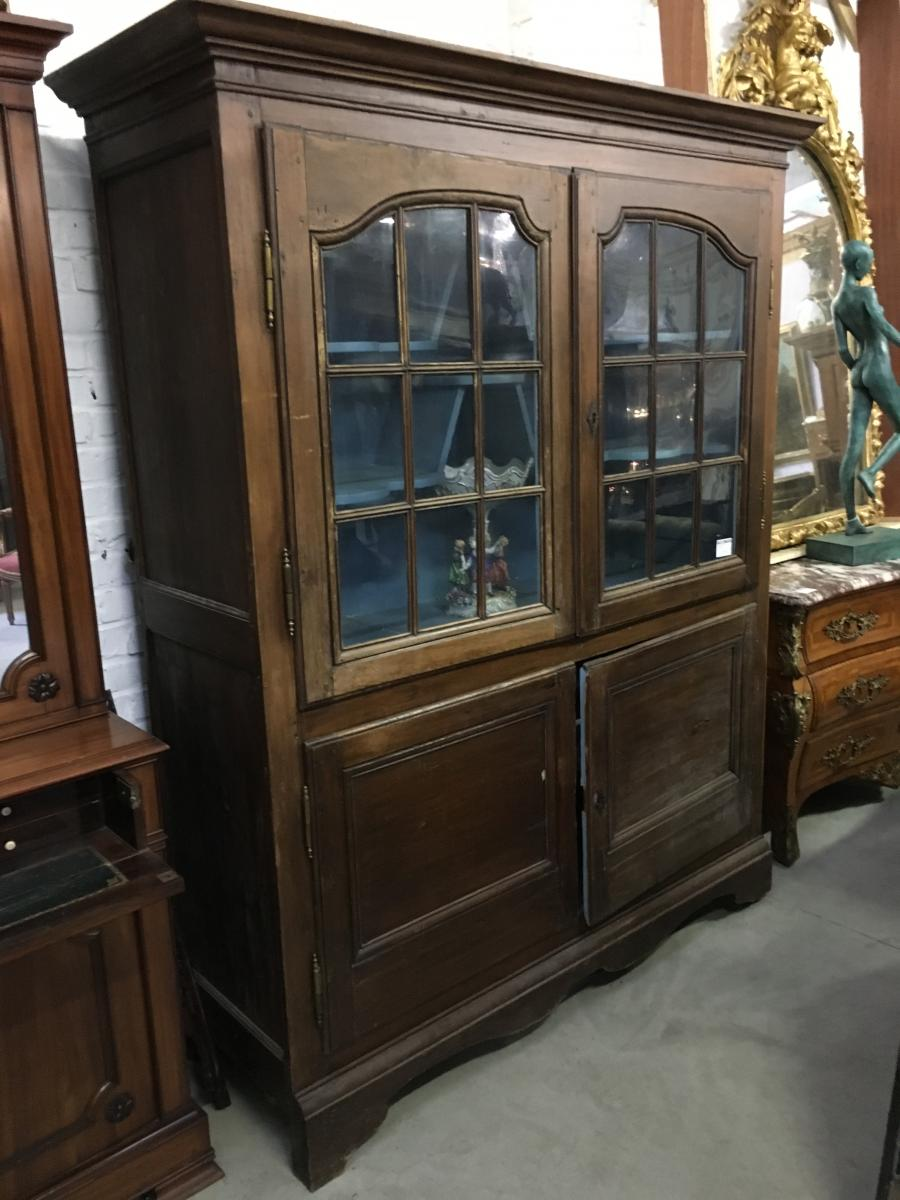 Showcase 4 Doors In Pin End 18th Century.