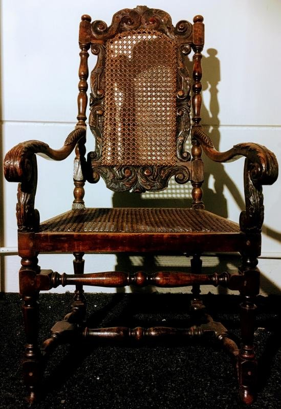 Fauteuil En Noyer Vers 1700 ( William & Mary ) -photo-5