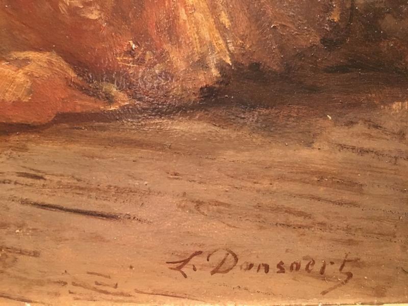 """romantic"" 19th Louis XV Style Painting-photo-1"