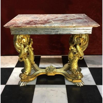 Gilded Center Table Italy 18th Century