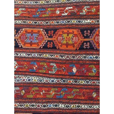 Kilim Rug Traditionally Woven In Iran