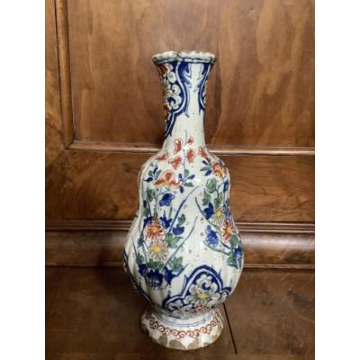 Vase De Delft Polychrome Du 18e Siècle